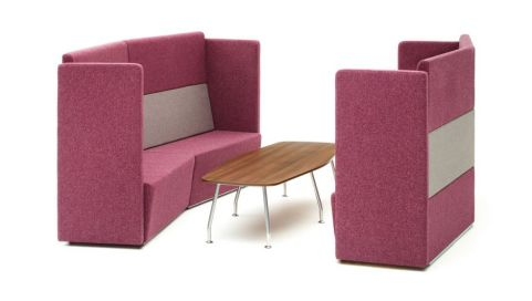 Totem Concave Sofas And Coffee Table Set