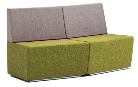 Totem Two Seater Convext Sofa With A Low Back
