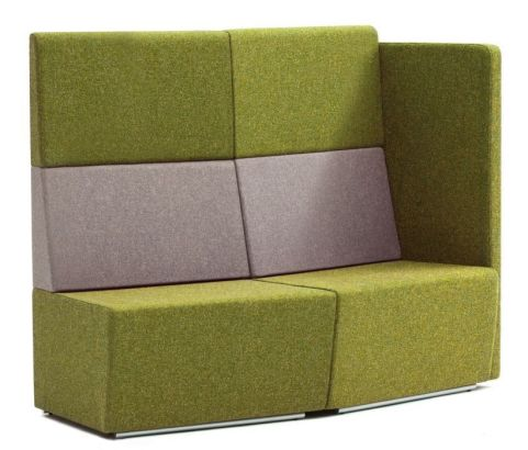 Totem Convex Curved Sofas With An Extra High Back And Single Arm