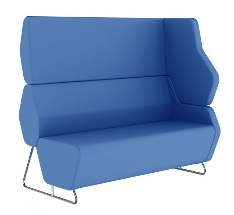 Extra High Back Two Seater Sofa For Left Hand Arm Office