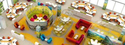 Hex Modular Sofa Installation