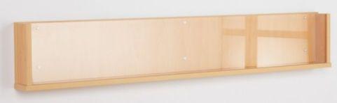 Wooden Shelf Leaflet Holder Single