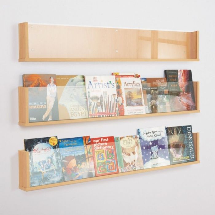Wooden Shelf Leaflet Holders Office Reality