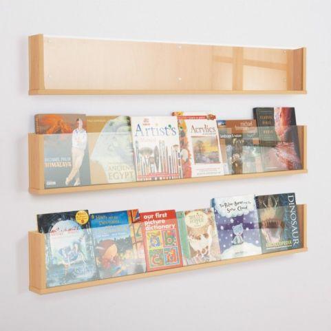 Wooden Shelf Leaflet Holders Set Of 3