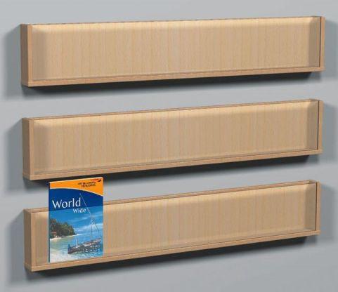 Wooden Shelf Leaflet Holders