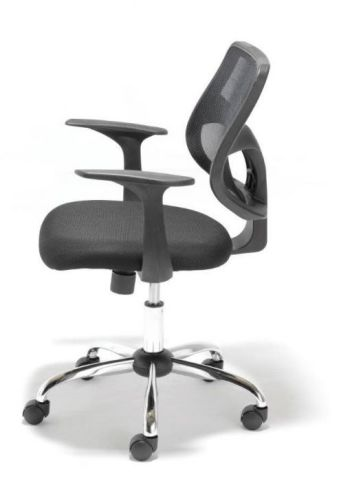 Smart Black Mesh Chair Side View
