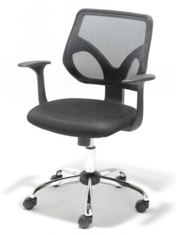 Smart Black Mesh Operators Chair Angle