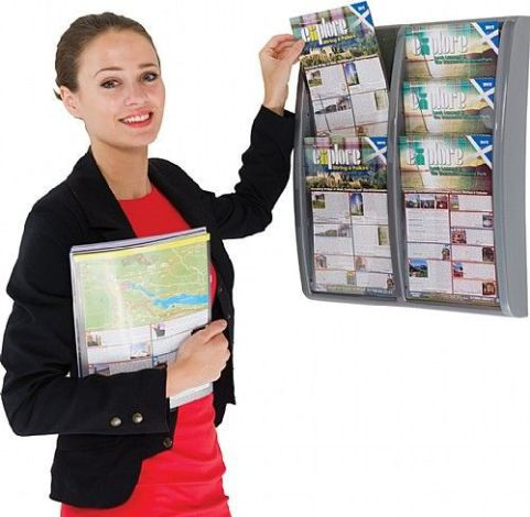 Vito Wall Mounted Leaflet Dispensers