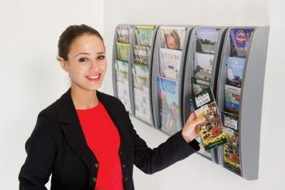 Vito Wall Mounted Leaflet Dispenser Set