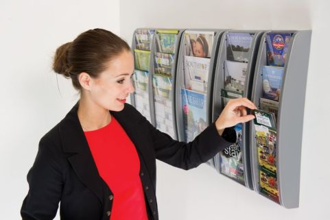 Vito Wall Mounted Leaflet Dispensers Side View