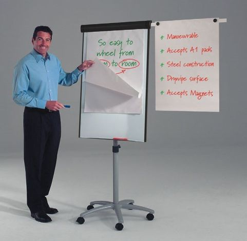 Buzz Flipchart Easel Showing Side Arm