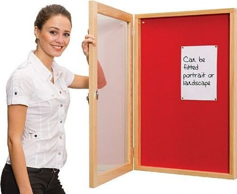 Ultra Wooden Framed Lockable Noticeboard 2