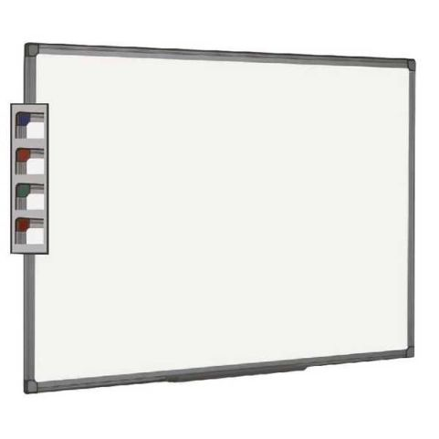 Pricebuster Whiteboard With A Grey Plastic Frame
