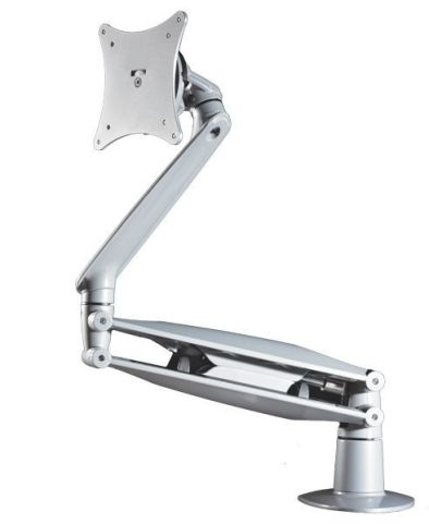 Cygnoid Glas Lift Height Adjustable Monitor Arm In Silver