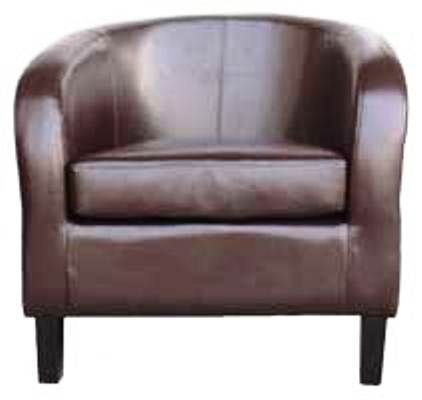 Purley Brown Leather Tub Chair