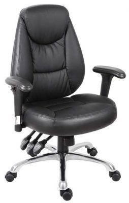 Advanced Black Leather Task Chair