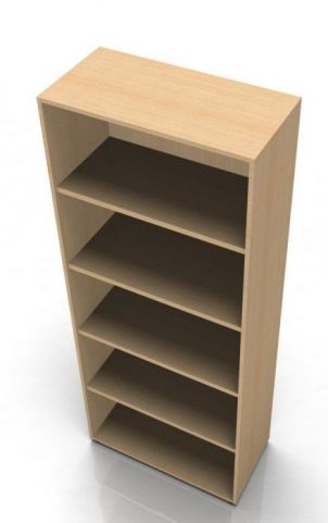 Quad Tall Open Bookcase In A Beech Finish