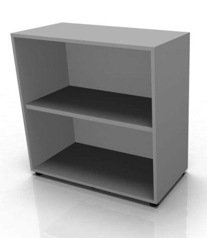 Quad Low Bookcase In Grey