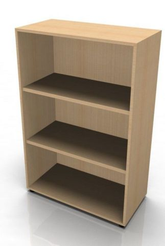 Quad Medium Heigtht Bookcase In Beech