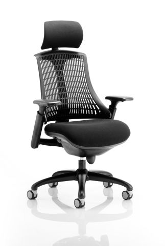 Reactive Ergo Chair In Black With Headrest