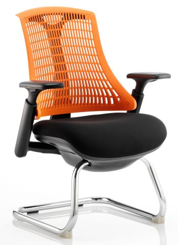 Reactive Ergo Visitor Chair With An Orange Back