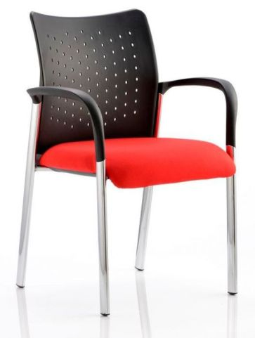 Breeze Conference Chair With Arms Red Fabnc