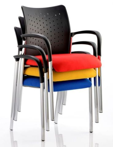 Breeze Conference Armchairs Stacked