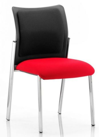 Breeze Conference Chair With Red Seat And Black Upholstered Back Pad