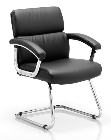 Charlton Black Leather Conference Chair