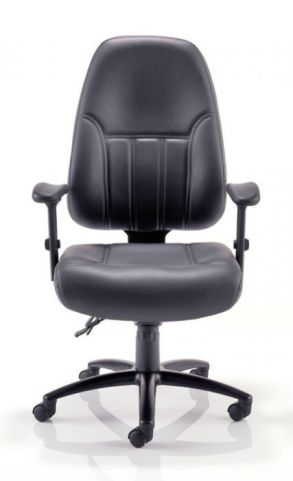 Baxman Black Leather 24 Hour Use Chair