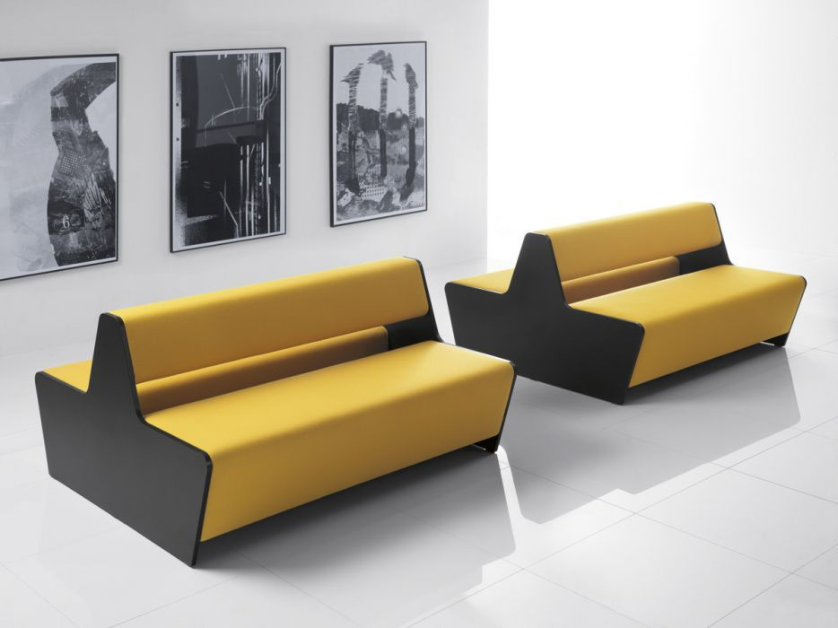 Two Sided Couch Two Sided Module Sofa  Magnitude  Office Reality