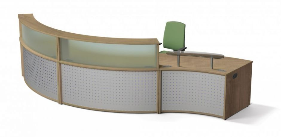 Concave Curved Reception Desk Vision Office Reality