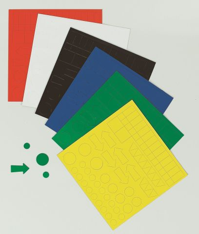 Magnetic Shapes For Use On Whiteboards