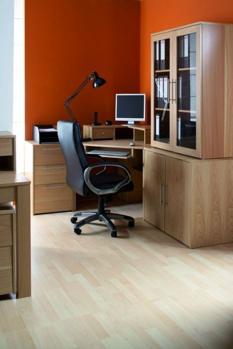 Oakwood Veneer Corner Desk Office Reality
