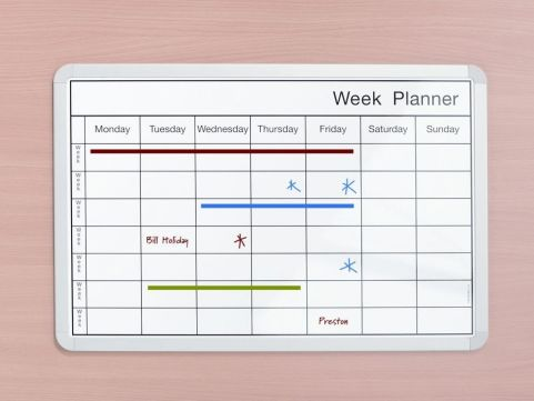 Whiteboard Weekly Planner