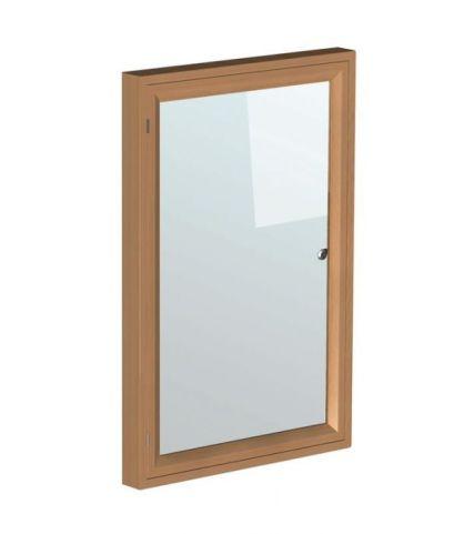 Real Wood Lockable Whiteboard 1