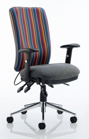 Chiro High Back Chair Striped Fabric Back