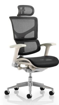 Dynamo All Mesh Chair With A Grey Frame Front Angle
