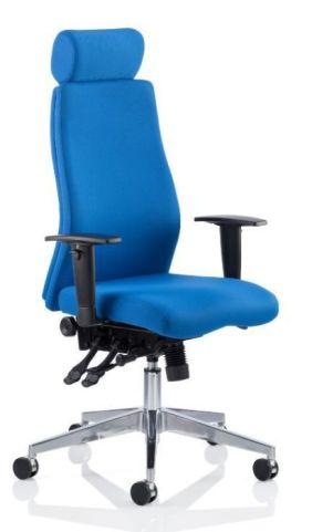Jet Blue Fabric Ergonomic Chair