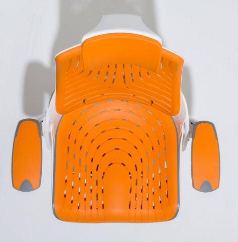 Taurus Orange Elastomer Chair From Above