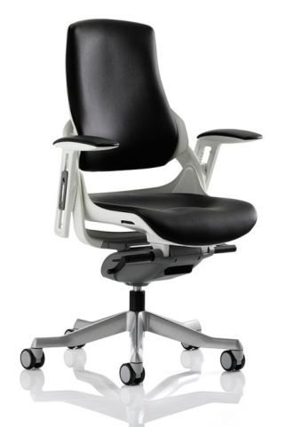 Taurus Black Leather Task Chair Without Headrest