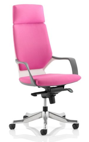 Atomic High Back Chair In Pink Front Angle