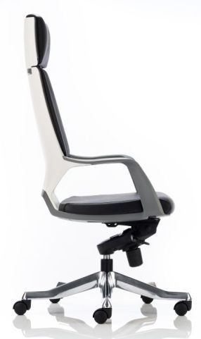 Atomic Black Leather Executive Chair Side Vidw