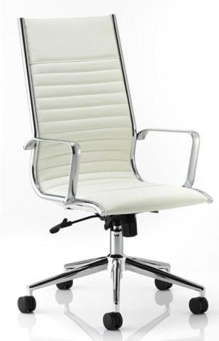 Hilton White Leather Executive Chair