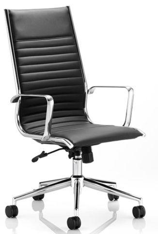 Hilton Black Leather Executive Chair