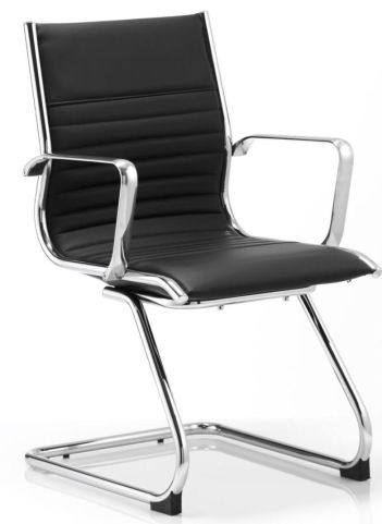 Hilton Black Leather Conference Chair