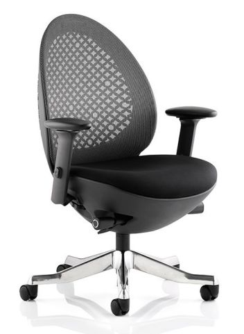 Podule Designer Chair Black Mesh And Black Frame