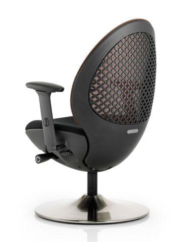 Podule Chair Black Mesh Rear View