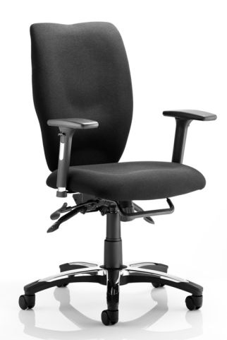 Motion Ergonomic Task Chair Black Stock Fabric