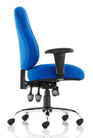 Minster Blue Task Chair Side View